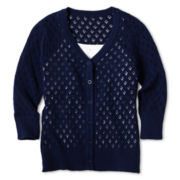 Arizona Pointelle Cardigan - Girls 6-16 and Plus