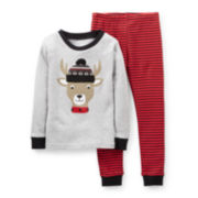 Carter's® 2-pc. Long-Sleeve Reindeer Pajama Set – Boys 6m-24m