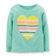 Carter's® Long-Sleeve Glitter Heart Tee - Girls 2t-5t