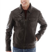 Dockers® Leather Trucker Jacket