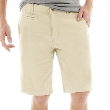 "jcpenney.com | Arizona 10¼"" Inseam Flat-Front Shorts"
