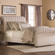Victoria Upholstered Sleigh Bed