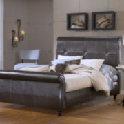 Travis Upholstered Sleigh Bed