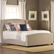 Darcy Upholstered Wingback Bed