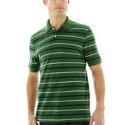 St. John's Bay® Striped Piqué Polo