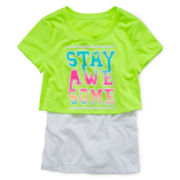 Xersion™ Layered Crop Top - Girls 7-16 and Plus