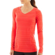 Xersion™ Long-Sleeve Barcode Tee