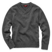 Arizona Solid Pullover V-Neck Sweater - Boys 6-18