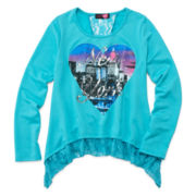Ransom Girl™ Long-Sleeve Lace Graphic Top – Girls 7-16