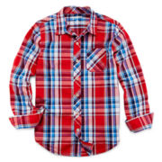 Arizona Long-Sleeve Button-Front Shirt – Boys 6-18 and 8-20 Husky