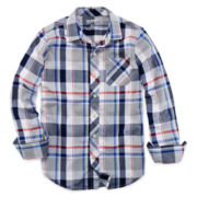 Arizona Long-Sleeve Button-Front Shirt – Boys 6-18 and 8-20 Husky