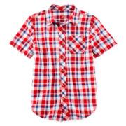 Arizona Short-Sleeve Button-Front Shirt – Boys 8-20