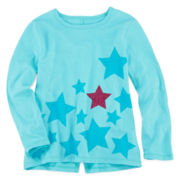 Arizona Long-Sleeve Notch-Back Tee - Girls 2t-6