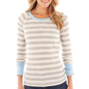 jcp™ Long-Sleeve Thermal Tee