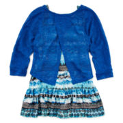 Knit Works Popover, Tank Top and Necklace - Girls 7-16 and Plus