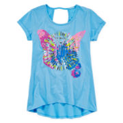 Arizona Keyhole Back Graphic Top - Girls 7-16 and Plus