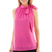 Worthington® Sleeveless Tie-Neck Top