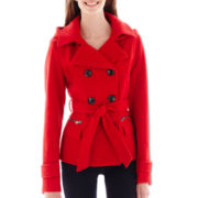 Maralyn & Me Long-Sleeve Double-Breasted Peacoat
