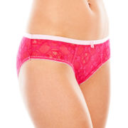 Flirtitude® Lace Girlie Boykini Panties