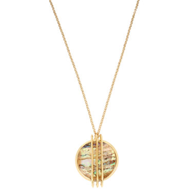 jcpenney.com | Worthington Womens Green Abalone Pendant Necklace
