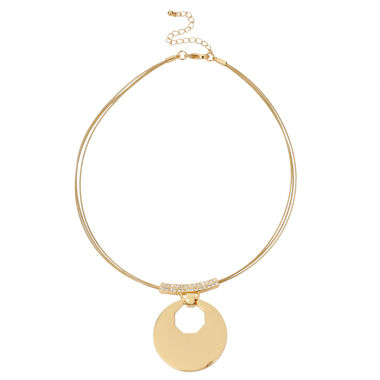 jcpenney.com | Worthington Womens Clear Crystal Pendant Necklace