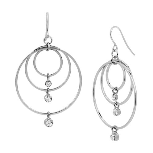 Boutique + Multi Circle Stone Drop Earring