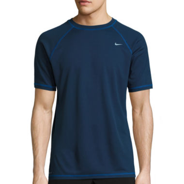 jcpenney.com | Nike Solid Short Sleeve Swim Tee