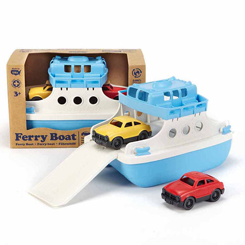 Green Toys Ferry Boat W  Cars Dress Up Accessory