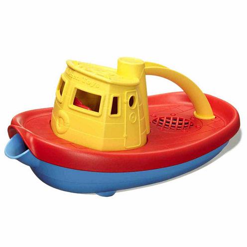 Green Toys Tug Boat Yellow  Accessory
