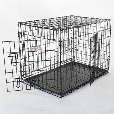 "jcpenney.com | 42"" Majestic Pet Double Door Folding Dog Crate"