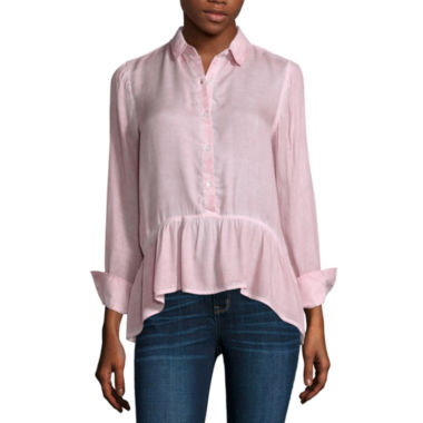 jcpenney.com | a.n.a 3/4 Sleeve Rayon Blouse