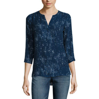jcpenney.com | a.n.a Shirred Shoulder Popover Blouse