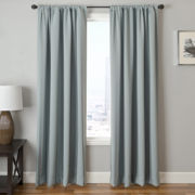 Tripoli Stripe Rod-Pocket Blackout Curtain Panel