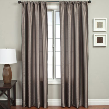 jcpenney.com | Napa Faux-Silk Rod-Pocket Curtain Panel