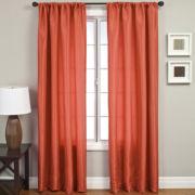 Napa Faux-Silk Rod-Pocket Curtain Panel