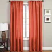 Napa Faux-Silk Rod-Pocket Curtain Panel