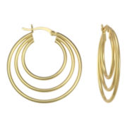 Triple Tier Hoop Earrings