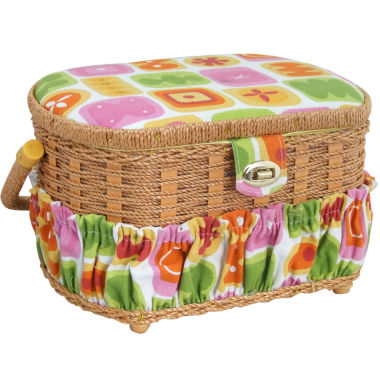 jcpenney.com | Handmade Sewing Basket, 42-pc. Sewing Kit & Plastic Tray