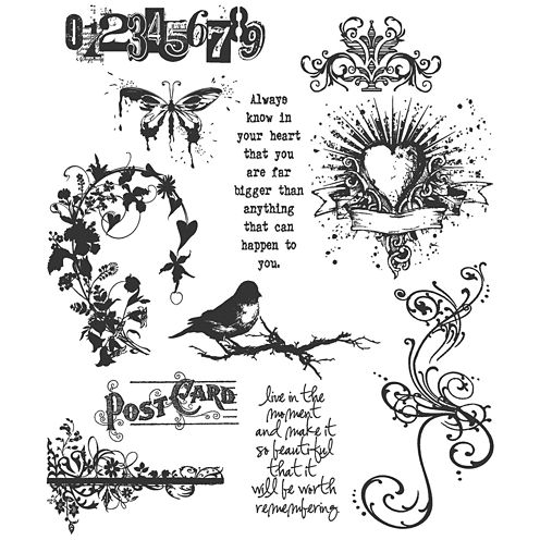 Tim Holtz® Large Cling Rubber Stamp, Urban Chic Set
