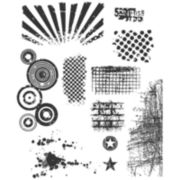 Tim Holtz® Large Cling Rubber Stamp,  Bitty Grunge Set