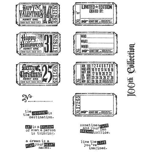 Tim Holtz® Large Cling Rubber Stamp, Odds & Ends Set