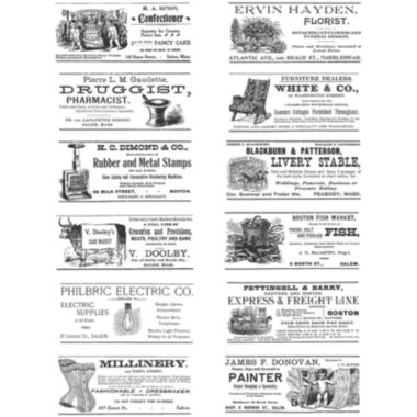 jcpenney.com | Tim Holtz® Large Cling Rubber Stamp, Adverts Set