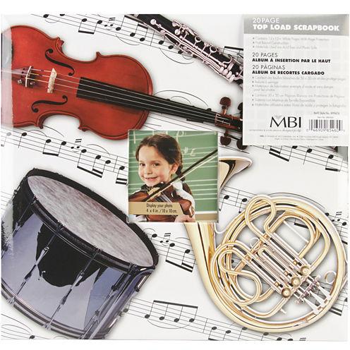 """Sport & Hobby 12 x 12"""" Postbound Album - Musical Instruments"""
