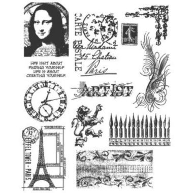 jcpenney.com | Large Cling Rubber Stamp Set—Mini Classics