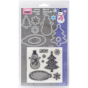 Sizzix® Framelits Die and Stamp Kit – Snowman