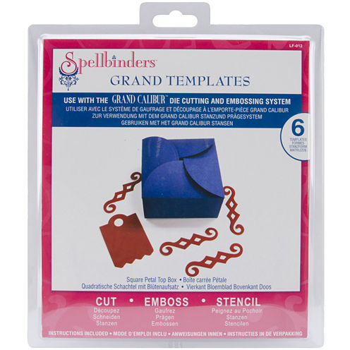 Spellbinders™ Grand Calibur® Dies, 6-pc. Square Petal Top Box Set