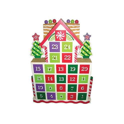 "15.5"" Gingerbread Advent Calendar"