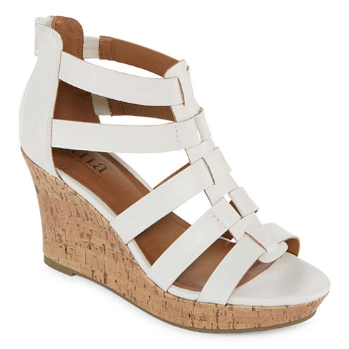 a.n.a Massey Womens Wedge Sandals