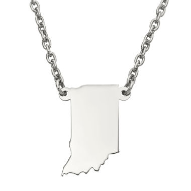jcpenney.com | Personalized Sterling Silver Indiana Pendant Necklace