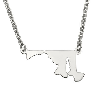 jcpenney.com | Personalized Sterling Silver Maryland Pendant Necklace